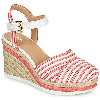 Topánky Ženy Sandále Geox D PONZA Červená / Biela