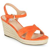Topánky Ženy Sandále Geox D SOLEIL Oranžová