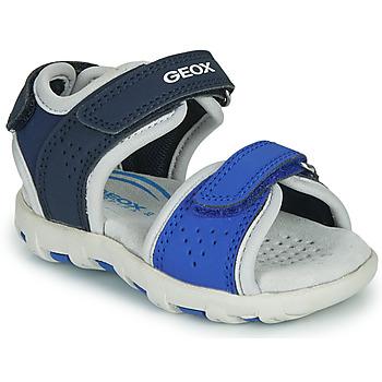 Topánky Chlapci Sandále Geox B SANDAL PIANETA Modrá