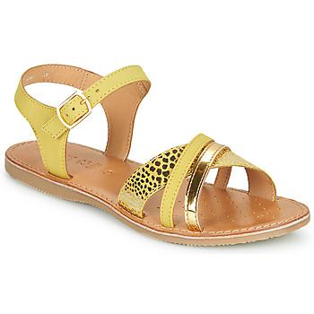 Topánky Dievčatá Sandále Geox J SANDAL EOLIE GIRL Žltá / Zlatá