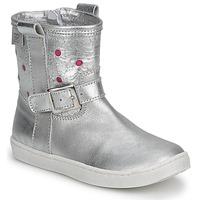 Topánky Dievčatá Polokozačky Pinocchio  Strieborná / Ružová fuchsiová