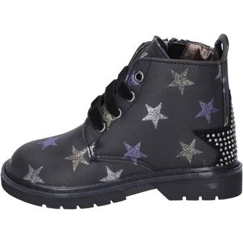 Topánky Dievčatá Čižmičky Asso Členkové Topánky BK218 Čierna