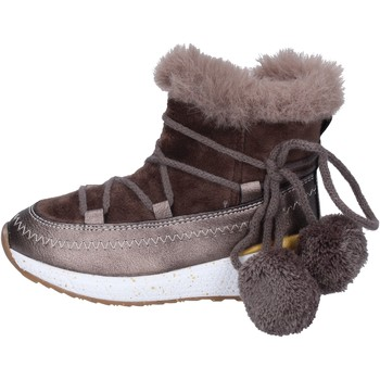 Topánky Dievčatá Čižmičky Asso Členkové Topánky BK220 Béžová