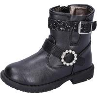 Topánky Dievčatá Čižmičky Asso Členkové Topánky BK221 Čierna
