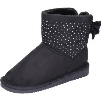Topánky Dievčatá Čižmičky Asso Členkové Topánky BK232 Čierna