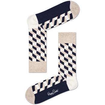 Doplnky Muži Ponožky Happy Socks Filled optic sock Viacfarebná