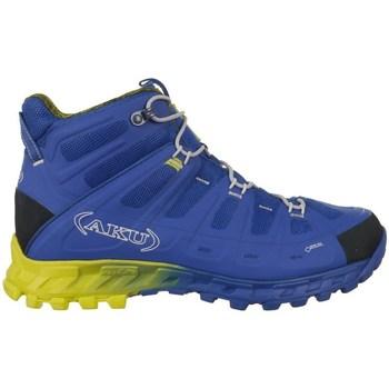 Topánky Muži Turistická obuv Aku Selvatica Mid Gtx Goretex Modrá,Žltá