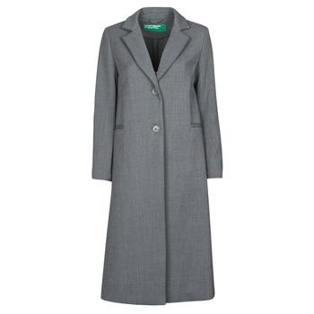 Oblečenie Ženy Kabáty Benetton  Šedá