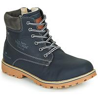 Topánky Chlapci Polokozačky Tom Tailor 70502-NAVY Námornícka modrá
