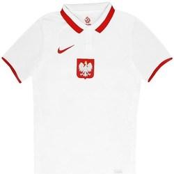 Oblečenie Muži Polokošele s krátkym rukávom Nike Polska Breathe Home Biela, Červená