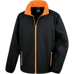 Oblečenie Muži Vrchné bundy Result Veste  Softshell Printable noir/noir