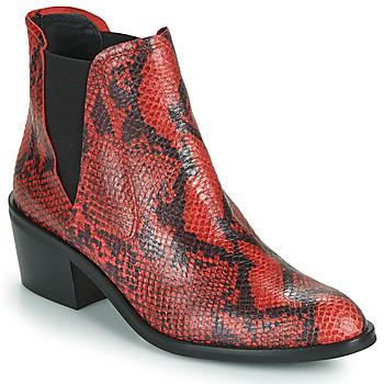 Topánky Ženy Polokozačky Fericelli NIAOW Čierna / Červená