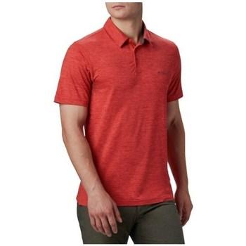 Oblečenie Muži Polokošele s krátkym rukávom Columbia Tech Trail Polo Shirt Červená
