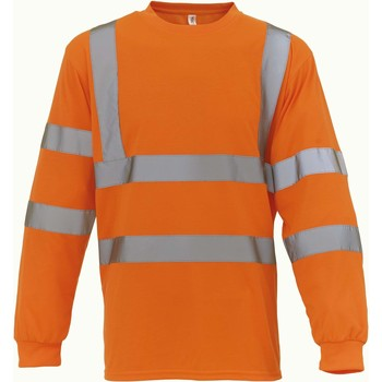 Oblečenie Tričká s dlhým rukávom Yoko T-Shirt manches longues  Haute Visibilité orange