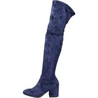 Topánky Ženy Čižmy Accademia stivali velluto Blu