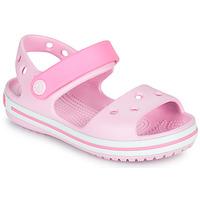 Topánky Dievčatá Sandále Crocs CROCBAND SANDAL KIDS Ružová