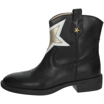 Topánky Dievčatá Polokozačky Florens F8503 Black/Gold