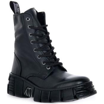 Topánky Polokozačky New Rock WALL ASA LUXOR NEGRO Nero
