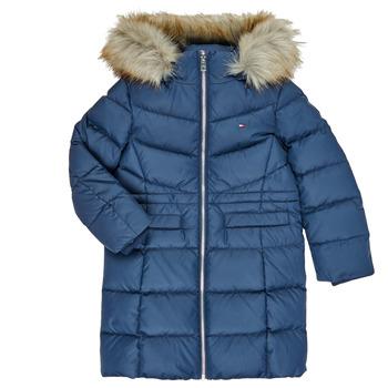 Oblečenie Dievčatá Vyteplené bundy Tommy Hilfiger KG0KG05397-C87-C Námornícka modrá
