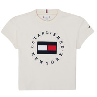 Oblečenie Dievčatá Tričká s krátkym rukávom Tommy Hilfiger KG0KG05503-Z00-J Béžová