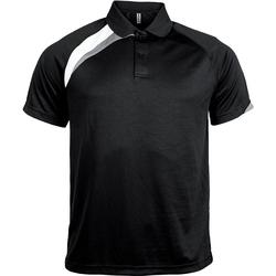 Oblečenie Muži Polokošele s krátkym rukávom Proact Polo manches courtes  Sport noir/blanc/gris clair