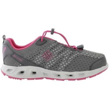 Topánky Dievčatá Bežecká a trailová obuv Columbia Youth Drainmaker Iii Sivá, Ružová