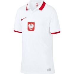 Oblečenie Chlapci Polokošele s krátkym rukávom Nike JR Polska Breathe Home 2021 Biela