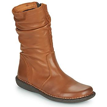 Topánky Ženy Polokozačky Casual Attitude NIELOO Ťavia hnedá