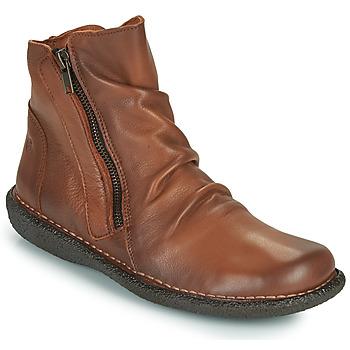 Topánky Ženy Polokozačky Casual Attitude NELIOO Ťavia hnedá