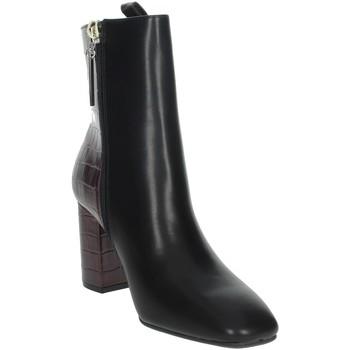 Topánky Ženy Polokozačky Gioseppo 60558 Black/Burgundy