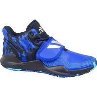 Topánky Deti Členkové tenisky adidas Originals Deep Threat J Čierna, Modrá