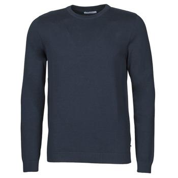 Oblečenie Muži Svetre Jack & Jones JJEBASIC Námornícka modrá