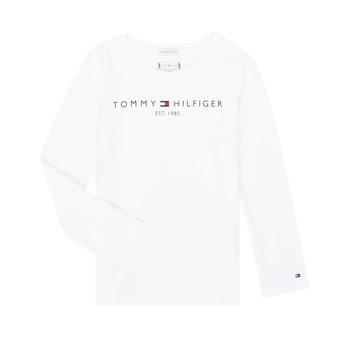 Oblečenie Dievčatá Tričká s dlhým rukávom Tommy Hilfiger KG0KG05247-YBR-J Biela
