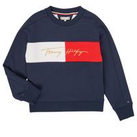 Oblečenie Dievčatá Mikiny Tommy Hilfiger KG0KG05497-C87-J Námornícka modrá