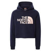Oblečenie Dievčatá Mikiny The North Face DREW PEAK CROPPED HOODIE Námornícka modrá