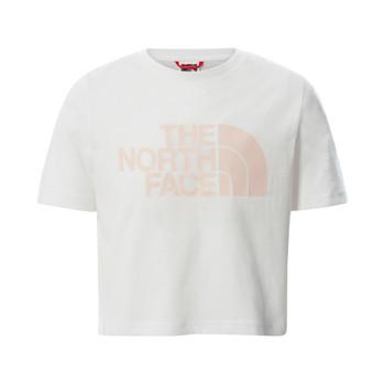 Oblečenie Dievčatá Tričká s krátkym rukávom The North Face EASY CROPPED TEE Biela