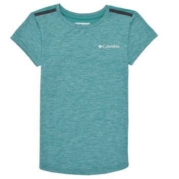 Oblečenie Dievčatá Tričká s krátkym rukávom Columbia TECH TREK Zelená