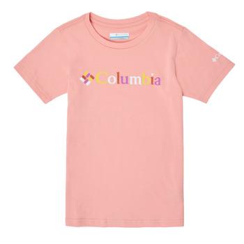 Oblečenie Dievčatá Tričká s krátkym rukávom Columbia SWEET PINES GRAPHIC Ružová