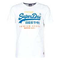 Oblečenie Muži Tričká s krátkym rukávom Superdry VL TRI TEE 220 Biela