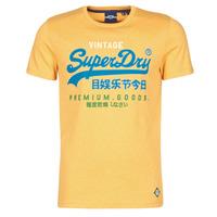 Oblečenie Muži Tričká s krátkym rukávom Superdry VL TRI TEE 220 Žltá