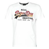 Oblečenie Muži Tričká s krátkym rukávom Superdry VL ITAGO TEE 220 Biela