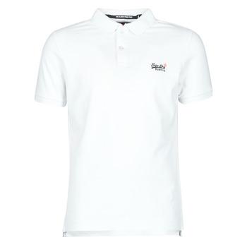 Oblečenie Muži Tričká s krátkym rukávom Superdry CLASSIC PIQUE S/S POLO Biela
