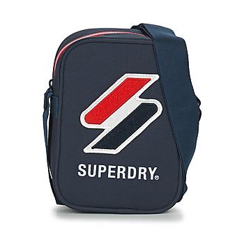 Tašky Vrecúška a malé kabelky Superdry SPORTSTYLE SIDE BAG Námornícka modrá