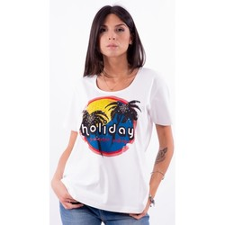 Oblečenie Ženy Tričká s krátkym rukávom Persona By Marina Rinaldi VALUTA biely