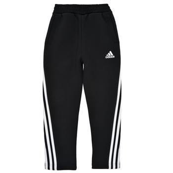 Oblečenie Chlapci Tepláky a vrchné oblečenie adidas Performance B 3S TAPERED P Čierna