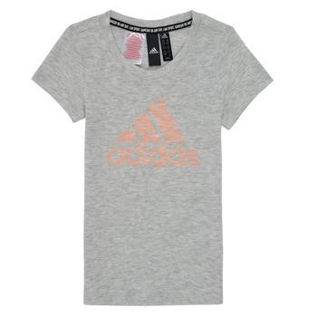 Oblečenie Dievčatá Tričká s krátkym rukávom adidas Performance JG A MHE TEE Biela