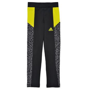 Oblečenie Dievčatá Legíny adidas Performance G LEO TIG Čierna