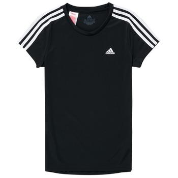 Oblečenie Dievčatá Tričká s krátkym rukávom adidas Performance G 3S T Čierna