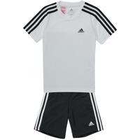Oblečenie Chlapci Súpravy vrchného oblečenia adidas Performance B 3S T SET Biela / Čierna