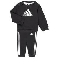 Oblečenie Deti Komplety a súpravy adidas Performance BOS JOG FT Čierna